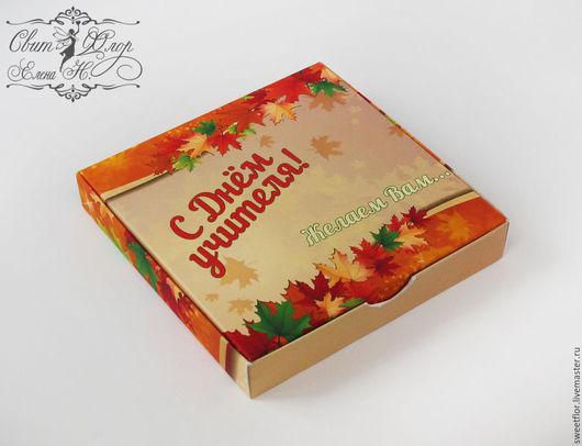 """Персональные подарки ручной работы. Ярмарка Мастеров - ручная работа. Купить Шоколадный набор """"День учителя"""" 2. Handmade."""