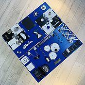 Бизиборды ручной работы. Ярмарка Мастеров - ручная работа Бизиборд синий. Handmade.
