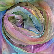 Scarves handmade. Livemaster - original item Scarf silk-chiffon, All colors of autumn,hand-painted,110h170 cm. Handmade.