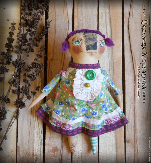 Ароматизированные куклы ручной работы. Ярмарка Мастеров - ручная работа. Купить Чердачная кукла в зеленом. Handmade. Зеленый, кукла интерьерная