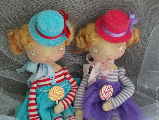 Коллекционные куклы ручной работы. Ярмарка Мастеров - ручная работа. Купить Сладкоежки - карамельки. Handmade. Разноцветный, кукла ручной работы