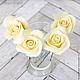 Заколки ручной работы. Шпильки с розами (маленькие) - Айвори кремовый. Tanya Flower. Интернет-магазин Ярмарка Мастеров. Украшение для невесты