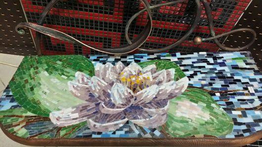 """Мебель ручной работы. Ярмарка Мастеров - ручная работа. Купить Мозаика, Консоль """"Лотос"""". Handmade. Консоль, столик"""