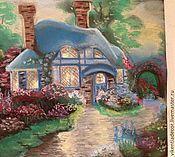 """Картины и панно ручной работы. Ярмарка Мастеров - ручная работа """"Сказочный домик"""", пастель. Handmade."""