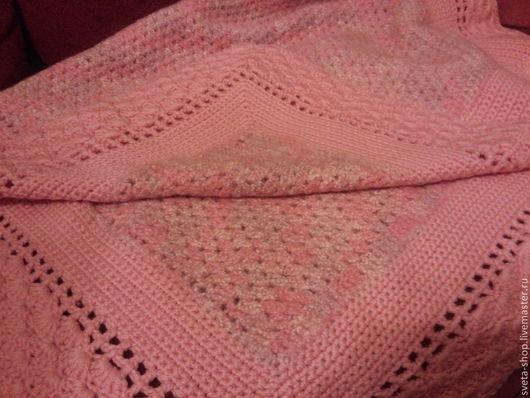 """Пледы и одеяла ручной работы. Ярмарка Мастеров - ручная работа. Купить плед """"нежность"""". Handmade. Бледно-розовый, плед детский"""