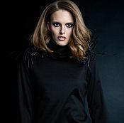 Одежда ручной работы. Ярмарка Мастеров - ручная работа SS2017 Черное платье с бахромой. Handmade.