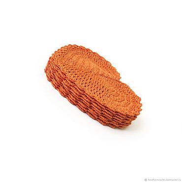 Для дома и интерьера ручной работы. Ярмарка Мастеров - ручная работа Салфетки лен, горчичный, поштучно. Handmade.