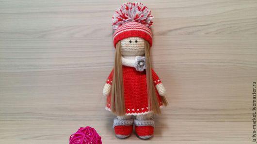Куклы Тильды ручной работы. Ярмарка Мастеров - ручная работа. Купить Куколка Даша. Handmade. Ярко-красный, кукла в подарок