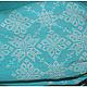 Льняная блуза с ручной вышивкой Бирюза. Модная одежда с ручной вышивкой. Творческое ателье Modne-Narodne.