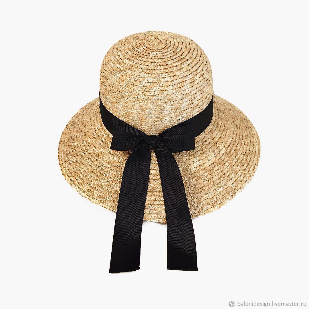 Шляпы ручной работы. Ярмарка Мастеров - ручная работа. Купить Соломенная Шляпа Клош. Handmade. Шляпы, шляпы женские