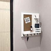 Для дома и интерьера handmade. Livemaster - original item Housekeeper wall mounted on a panel in the hallway. Handmade.