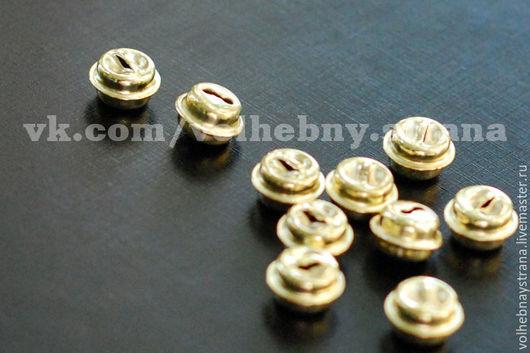 """Для украшений ручной работы. Ярмарка Мастеров - ручная работа. Купить Бубенчики 10 мм. (бубенцы, """"золотые"""", декор, металлические). Handmade."""