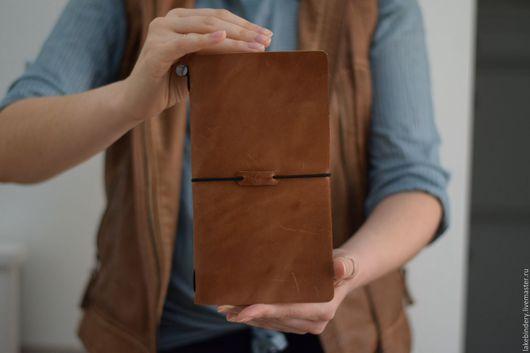 Блокноты ручной работы. Ярмарка Мастеров - ручная работа. Купить Блокнот кожаный коричневый / ежедневник из кожи. Handmade. Коричневый