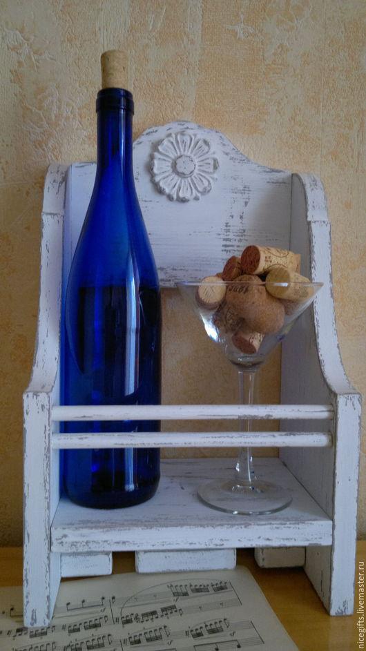 """Мебель ручной работы. Ярмарка Мастеров - ручная работа. Купить Полка для вина """" Дуэт"""",стиль SHABBY CHIC, ручная работа. Handmade."""