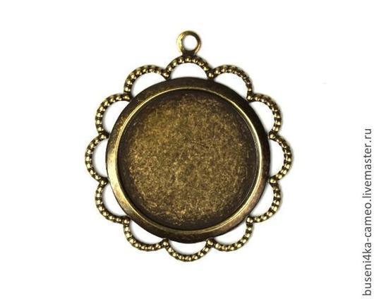 Для украшений ручной работы. Ярмарка Мастеров - ручная работа. Купить Оправа Ажурная 18мм, античная бронза (1шт). Handmade.