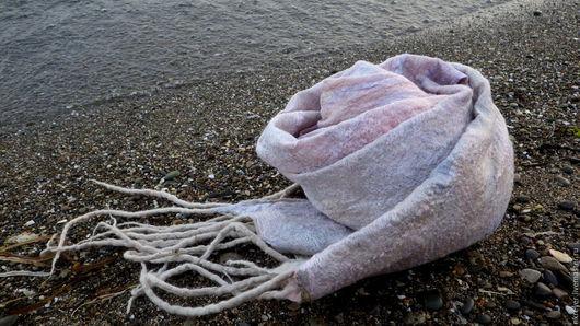 """Шарфы и шарфики ручной работы. Ярмарка Мастеров - ручная работа. Купить шарф """" Жемчужный"""". Handmade. Жемчужный, тонкий"""