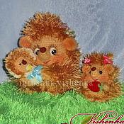 Куклы и игрушки ручной работы. Ярмарка Мастеров - ручная работа Мама ежиха с детишками. Handmade.
