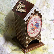 Для дома и интерьера ручной работы. Ярмарка Мастеров - ручная работа Чайный домик Le coq. Handmade.