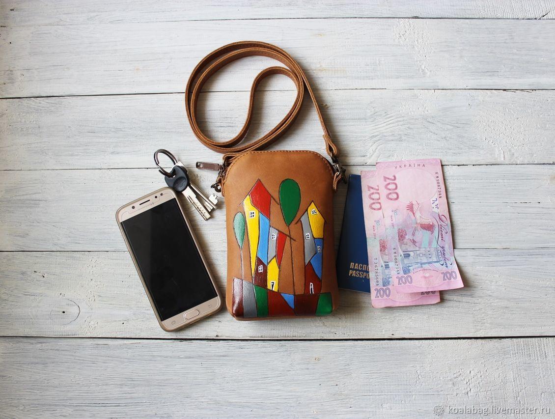 For Phones handmade. Livemaster - handmade. Buy Handbag for the phone ' Houses'.Bag, shoulder bag