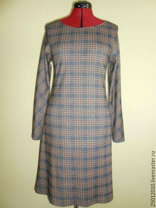 Платья ручной работы. Ярмарка Мастеров - ручная работа. Купить Платье. Handmade. Серый, платье в клетку, платье на заказ