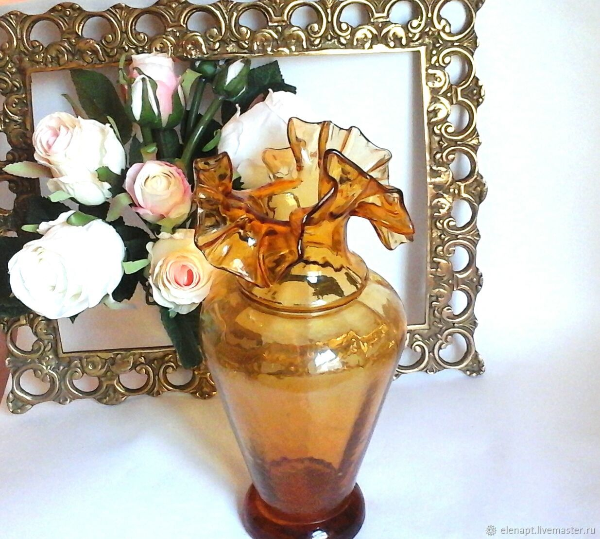 Hand blown glass vase from the island of Majorca, Vases, ,  Фото №1