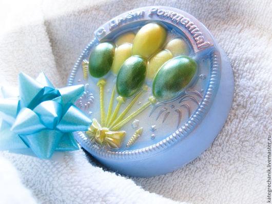 """Мыло ручной работы. Ярмарка Мастеров - ручная работа. Купить Мыло """"С Днём Рождения!"""". Handmade. Разноцветный, подарок подруге"""
