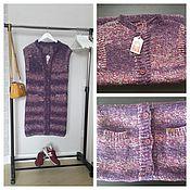 Одежда ручной работы. Ярмарка Мастеров - ручная работа утепленный жилет-пальто. Handmade.