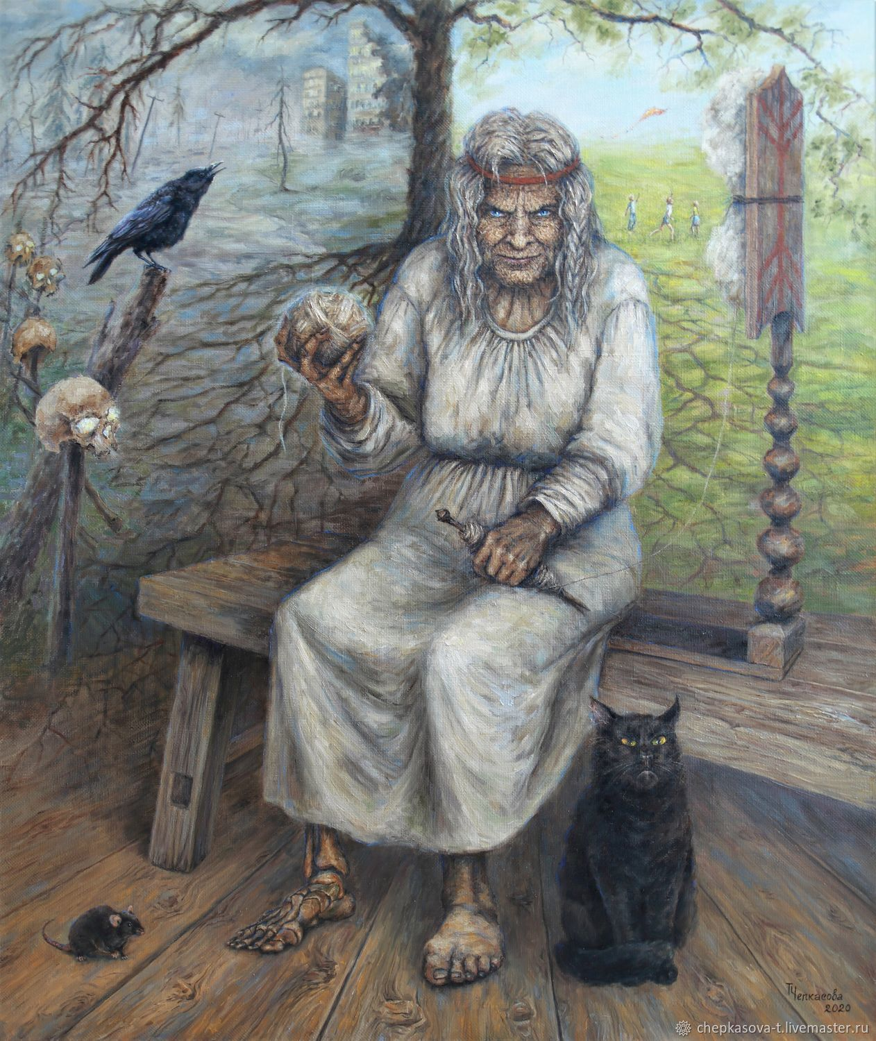Baba Yaga. Oil painting, Pictures, Moscow,  Фото №1