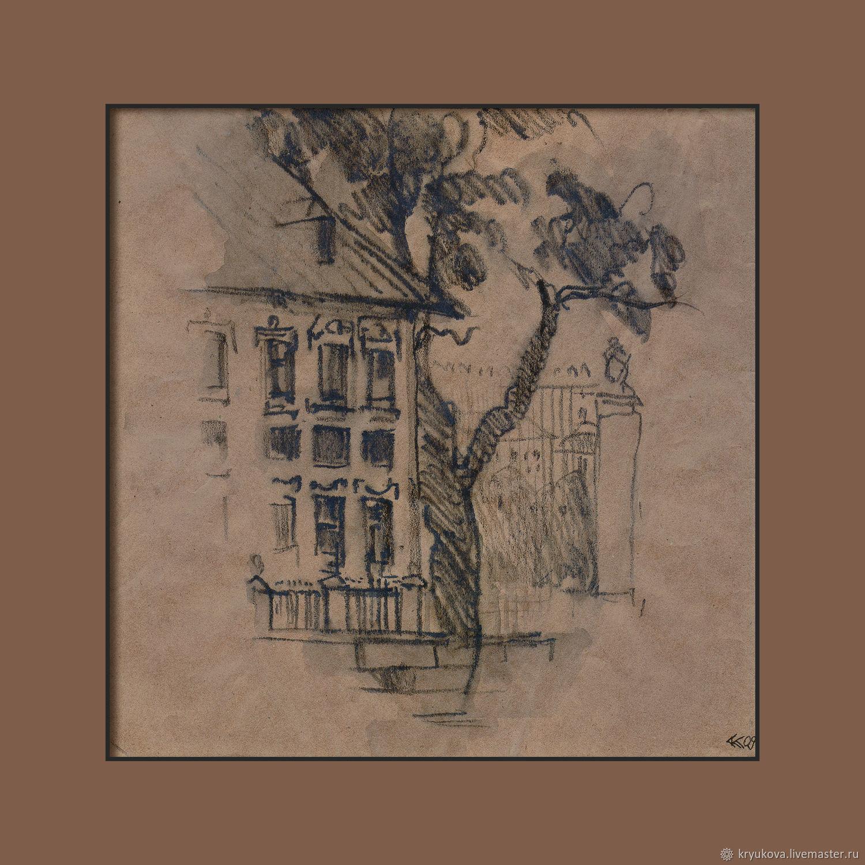 «Домик Петра» Картина рисунок городской пейзаж Петербург, Картины, Москва,  Фото №1