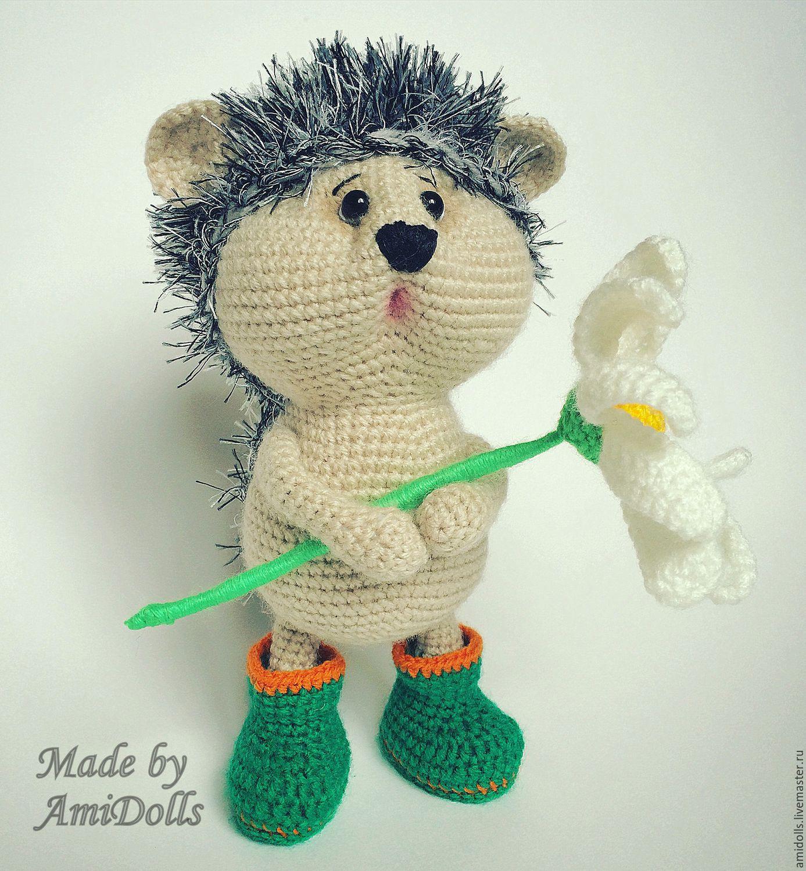 Hedgehog with chamomile Doll Amigurumi – shop online on