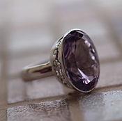 Украшения ручной работы. Ярмарка Мастеров - ручная работа 19 аметист граненный 19 мм идеальный  кольцо серебряное. Handmade.