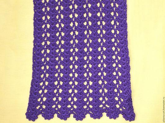 Шарфы и шарфики ручной работы. Ярмарка Мастеров - ручная работа. Купить Шарф из шерсти фиолетовый. Handmade. Шарф женский