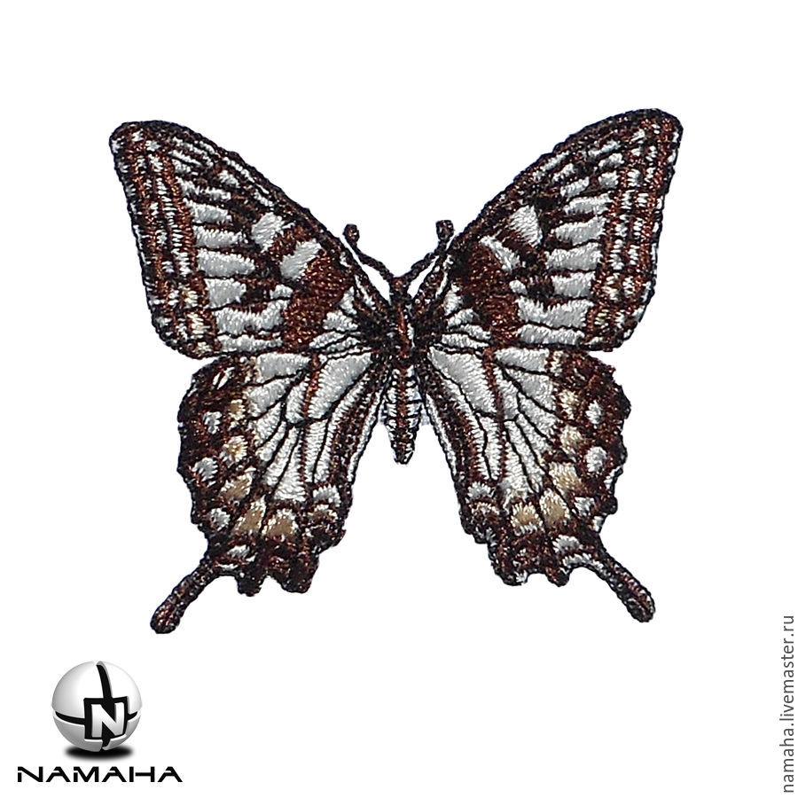 Вышивка для одежды бабочки