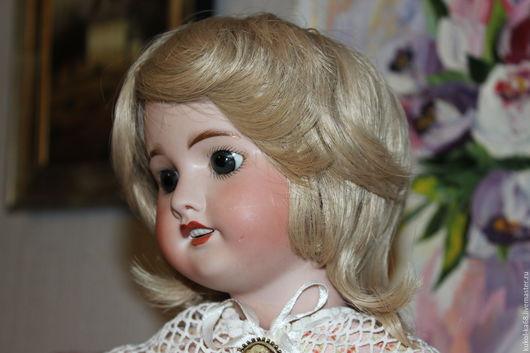 Одежда для кукол ручной работы. Ярмарка Мастеров - ручная работа. Купить Парик для антикварных и современных коллекционных кукол. Handmade. Белый