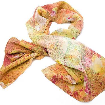 Accessories. Livemaster - original item Scarf orange silk