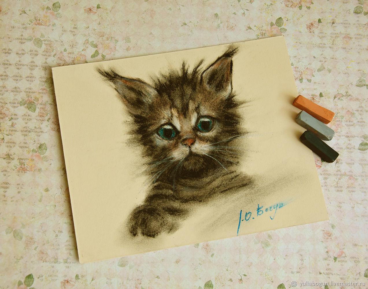 Pastel painting ' Kitten Tishka', Pictures, Belorechensk,  Фото №1