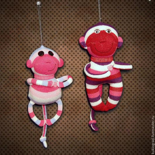 Игрушки животные, ручной работы. Ярмарка Мастеров - ручная работа. Купить Озорная обезьянка, авторская текстильная игрушка.. Handmade. Комбинированный