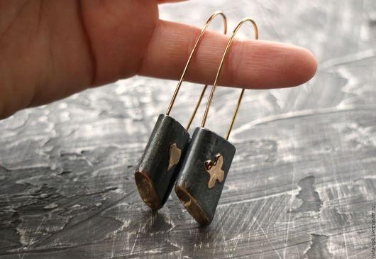 Серьги ручной работы. Ярмарка Мастеров - ручная работа. Купить OLD LOVE STORY серьги  (серебро, золото). Handmade. винтажные