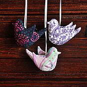 Куклы и игрушки ручной работы. Ярмарка Мастеров - ручная работа Райский сад ( набор птичек ). Handmade.