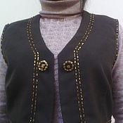 """Одежда ручной работы. Ярмарка Мастеров - ручная работа жилет"""" вышитые пуговки"""". Handmade."""
