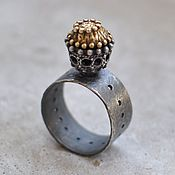 Украшения handmade. Livemaster - original item Ring from silver and brass. Handmade.