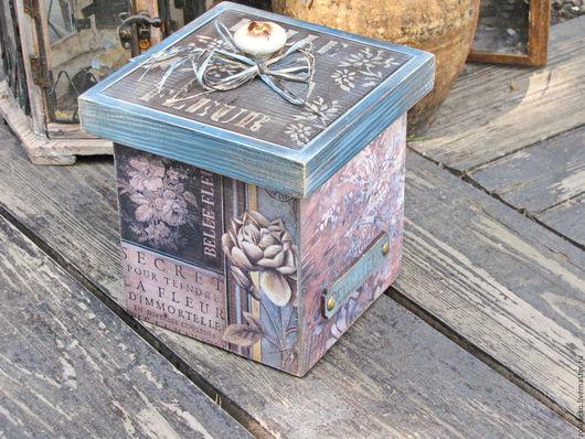 """Кухня ручной работы. Ярмарка Мастеров - ручная работа. Купить Короб для кофе """"BELLE FLEUR"""". Handmade. Голубой, короб для сладостей"""
