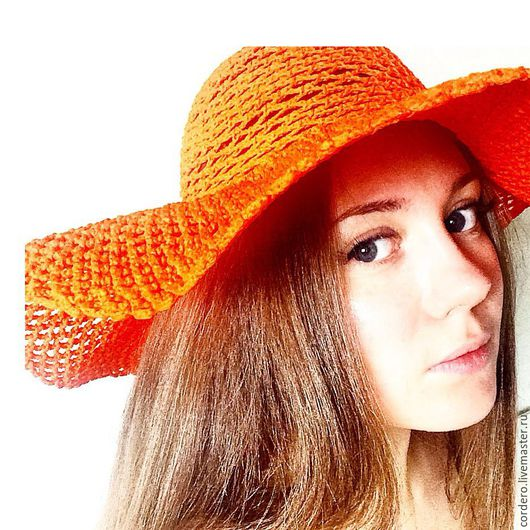 Шляпа. Шляпка летняя. Ярмарка мастеров.