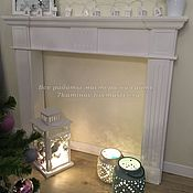 Для дома и интерьера ручной работы. Ярмарка Мастеров - ручная работа Каминный портал (декоративный фальш камин) из гипса КМР-100 цвет белый. Handmade.