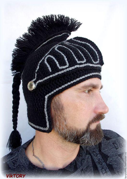 """Шапки ручной работы. Ярмарка Мастеров - ручная работа. Купить Шапка """"Рыцарь"""".. Handmade. Черный, шапка детская, теплая шапочка"""