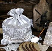 """Для дома и интерьера ручной работы. Ярмарка Мастеров - ручная работа Льняной мешочек для хлеба из серии """"Старый мельник"""". Handmade."""