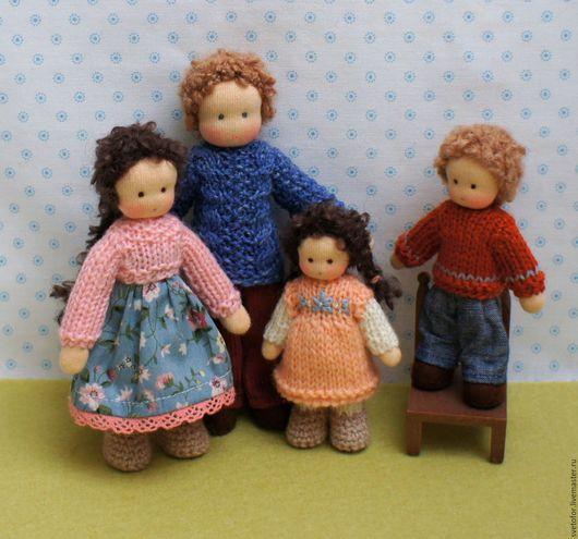 Вальдорфская игрушка ручной работы. Ярмарка Мастеров - ручная работа. Купить Семья. Handmade. Комбинированный, каркасная кукла, кукла интерьерная