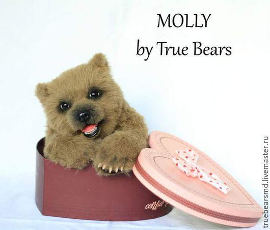 Мишки Тедди ручной работы. Ярмарка Мастеров - ручная работа. Купить Мишка тедди Молли. Handmade. Коричневый, тедди, теддик