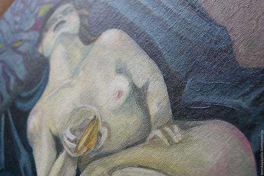 Люди, ручной работы. Ярмарка Мастеров - ручная работа. Купить The tempting veil. Handmade. Бежевый, ретро, мозайка, ню