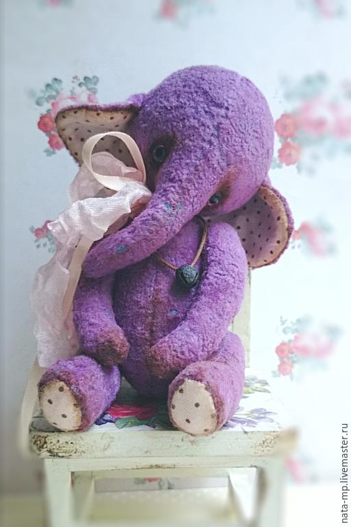Мишки Тедди ручной работы. Ярмарка Мастеров - ручная работа. Купить Бадди. Handmade. Сиреневый, ручная работа handmade